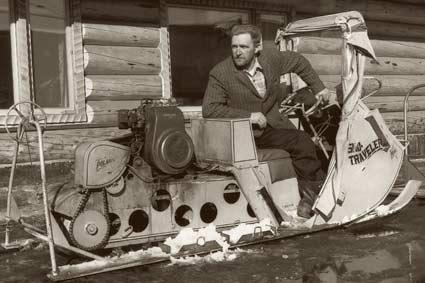 Снегоход Polaris. Свои первые снегоходы в дальнейшем Polaris называл Sno-Traveler.