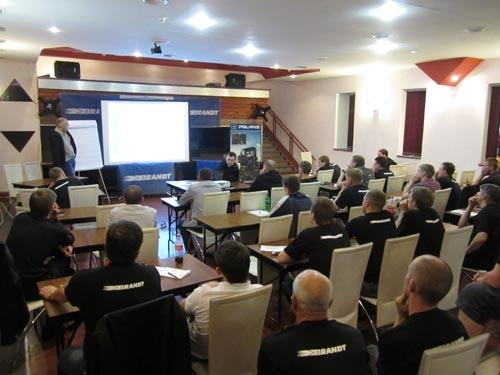 С 14 по 15 мая 2013 года в городе Зеленогорске компания BRANDT - эксклюзивный дистрибьютор мототехники Polaris и новых американских мотоциклов Victory в России - провела технический семинар для специалистов служб сервиса официальных дилеров Polaris.